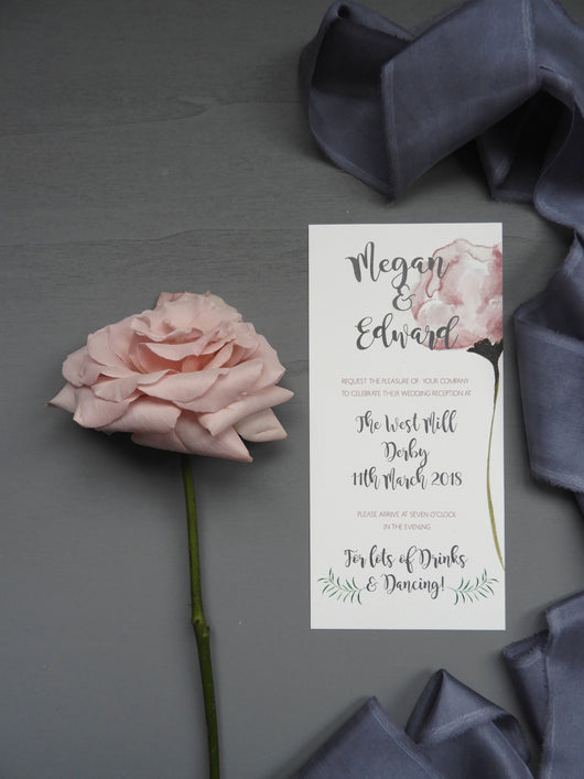 Blush Rose Evening Invitation