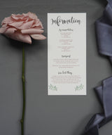 Blush Rose Invitation Bundle- Invite, Information Card, RSVP, Belly Band & Envelope