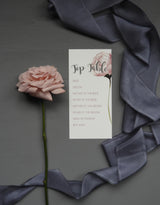 Blush Rose Table Plan Cards