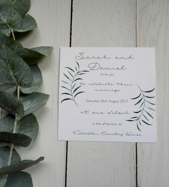 Olive Twigs Evening Invitation