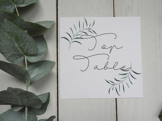 Olive Twigs Square Table Numbers / Names