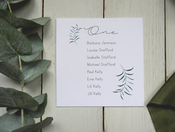Olive Twigs Square Table Plan Cards