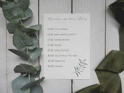 Olive Twigs A5 Order Of Service Cards