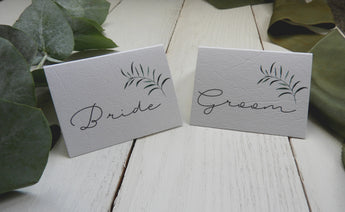 Olive Twigs Folded Name Place Cards
