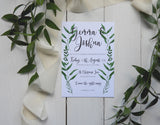 Botanical Bundle- Invitation, Information Card, RSVP, Belly Band & C5 Envelope