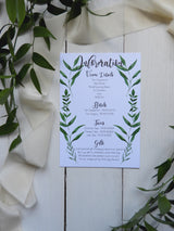 Botanical A5 Information Card