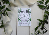 Botanical A6 Save the Date
