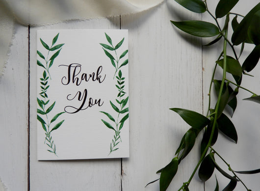 Botanical A6 Thank You Card
