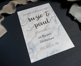 Marble Watercolour A5 Invitation