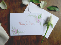 Blush Thank You Cards - Wedding Thank You Cards