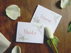 Wedding Day Place Cards - Guest Name Cards