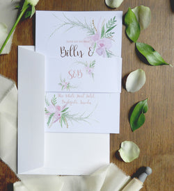 Delicate Floral A5 Evening Invitation