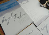Watercolour Brush Calligraphy A5 Information Card