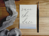 Watercolour Brush Calligraphy A6 Save the Date