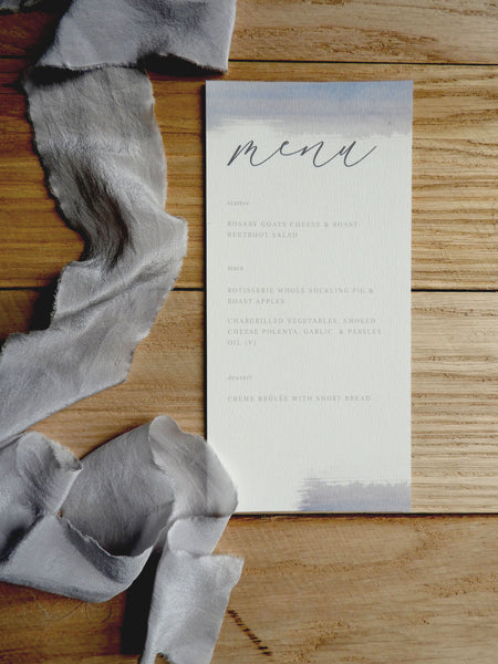 Watercolour Brush Calligraphy Menu