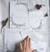 wild lavender wedding stationery