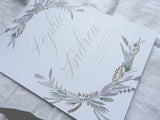 Wild Lavender Bundle- Invitation, Information Card, RSVP, Belly Band and C5 Envelope