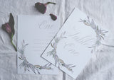 wild lavender table plan cards and table numbers