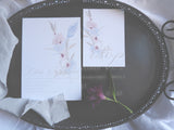 Fine Art Floral Bundle- Invitation, Information Card, RSVP, Belly Band and C5 Envelope