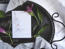 Fine Art Floral Table Number / Name Cards