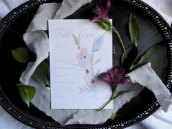 Fine Art Floral Table Plan Cards