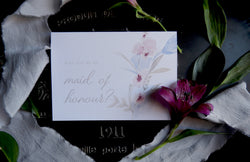 Fine Art Floral 'Will You Be My Maid of Honour?' Card