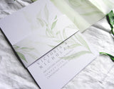 Modern Greenery A5 Information Card