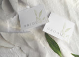 Modern Greenery Folded Place Cards