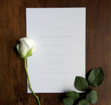 Pink Garden Rose Evening Invitation