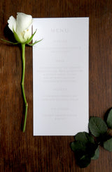 Pink Garden Rose Wedding Menu