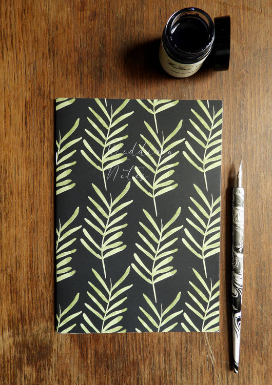2 Pack of Wedding Foliage Botanical Watercolour Printed Notebooks