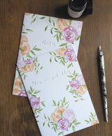 2 Pack of Floral & Foliage Watercolour Printed Notebooks