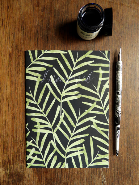 2 Pack of Foliage Botanical 'Inspired' Watercolour Printed Notebooks