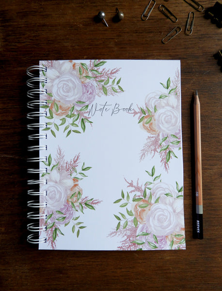 Pretty Floral Watercolour Printed Note Book