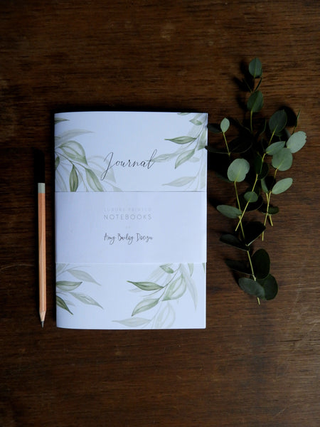 Pack of 2 Foliage Watercolour Printed Notebooks