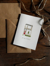 Box of 10 Watercolour Christmas Cards with Envelopes