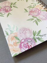 Hardback 'Be Fabulous' Bright Floral Watercolour Printed Note Book