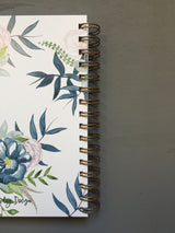 Hardback Blue Watercolour Floral Printed Note Book