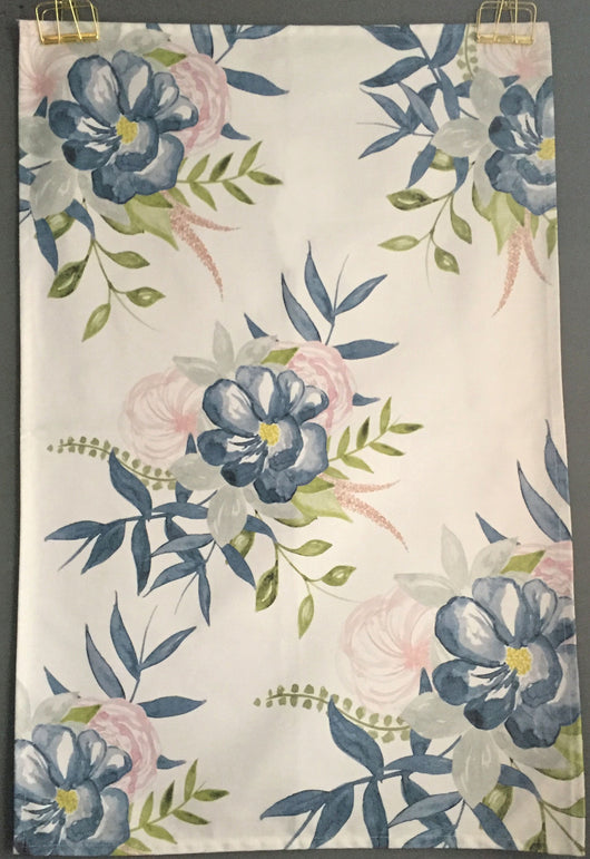Blue Floral All Over Printed Tea Towel