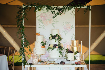 Printed back scroll - Wedding Table Back Drop