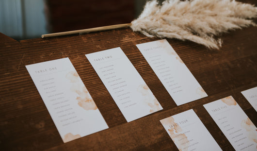 Industrial Opulence Table Plan Cards