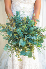 greenery wedding bouquet