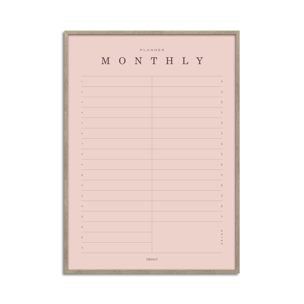 Monthly Planner - Basic