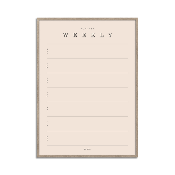 Weekly Planner - Basic