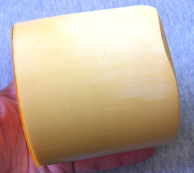 Butterscotch Amber Imitation Yellow Color Bakelite Catalin Block Piece 880 grams