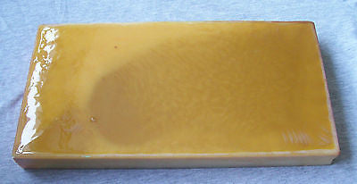 Butterscotch Amber Imitation Yellow Color Bakelite Catalin Block Piece 1640 grams