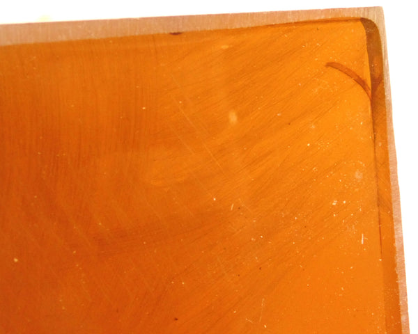 Butterscotch Amber Imitation Yellow Color Transparent Bakelite Catalin Block Piece 220 grams