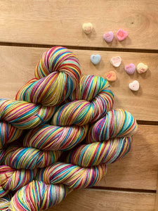 Ready to Ship - None for Gretchen Wieners - Self-Striping Yarn