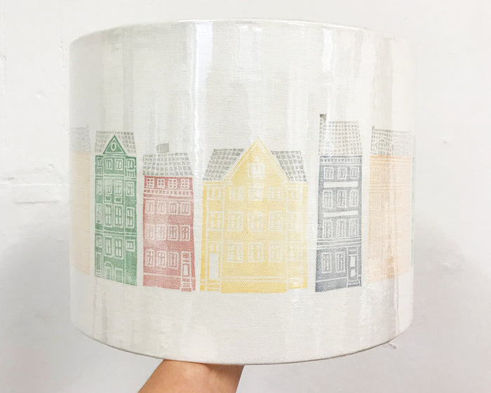 Copenhagen Buildings Drum Lampshade - 30cm D x 22cm H