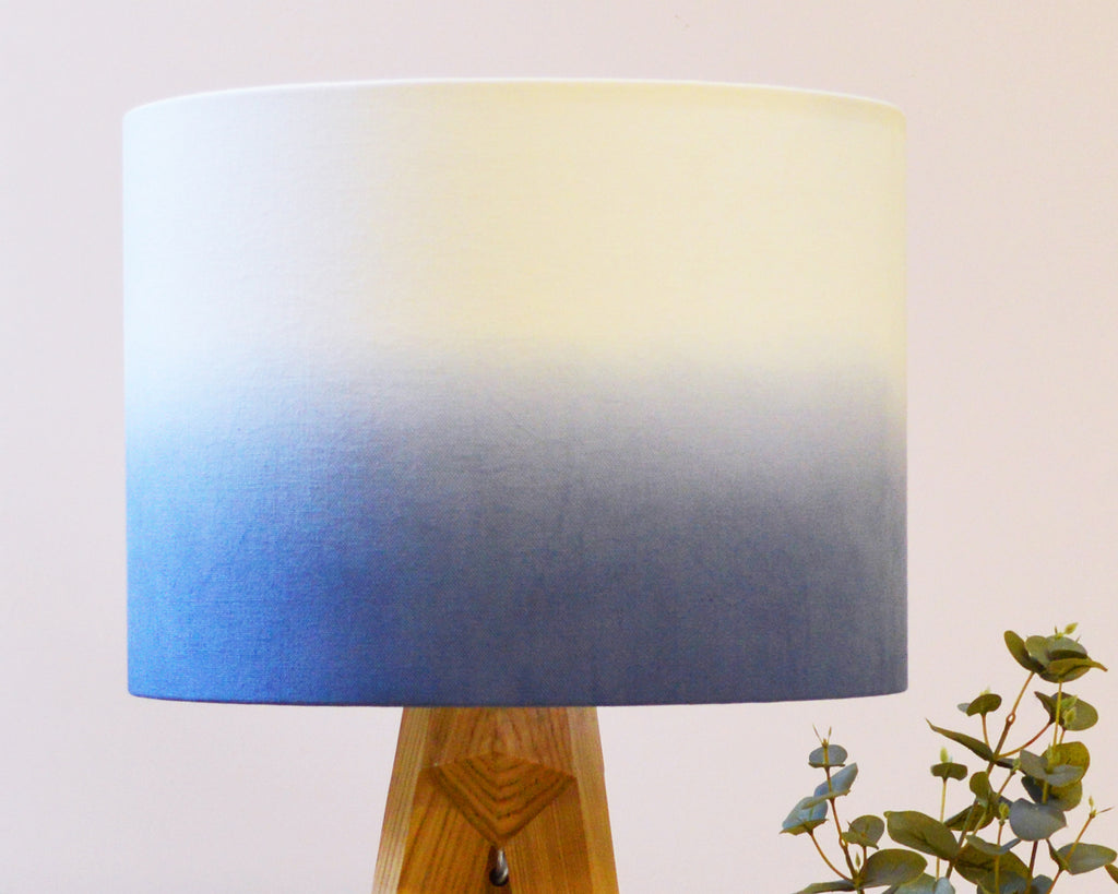 Navy Ombre Drum Lampshade